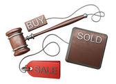 Auction gavel — Stock Photo