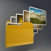 Uploading photos from folder. — Stock Photo
