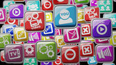 APPS icons abstract background High resolution 3d render — Stock Photo