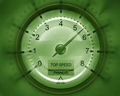 Tachometer green — Stockfoto