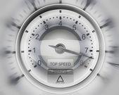 Tacómetro blanco — Foto de Stock