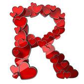 Alphabet of hearts — Stock Photo