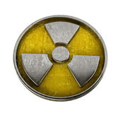 Radiation Alert sign isolated on white background — Stock Photo