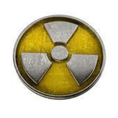 Radiation Alert sign isolated on white background — Stock Photo