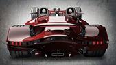 Kırmızı spor araba konsepti — Stok fotoğraf