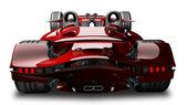 Kavram. kırmızı spor araba — Stok fotoğraf