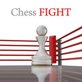 Concept. chess pawn on a boxing ring — Stock Photo