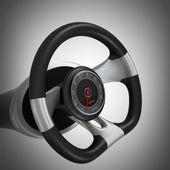 Dashboard on steering wheel — Stock Photo