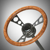 Vintage steering wheel. — Stock Photo