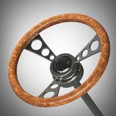 Vintage steering wheel. — Stock Photo