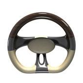 Futuristic steering wheel — Stock Photo