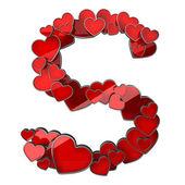 Kalplerin alfabesi — Stok fotoğraf