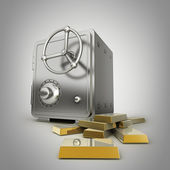 Safe with gold — Stock Photo