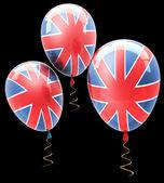 Balls with symbols of the U.K. — Stock Photo