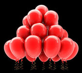 Red party helium balloons. — Stock Photo