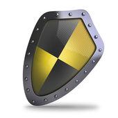 желтый и черный щит — Стоковое фото