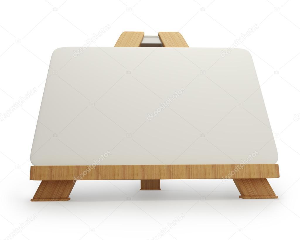 cavalete de madeira com tela em branco — Imagem de Stock #20326393 #744929 1024x819