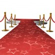 Empty stage with Red carpet — Stock Photo