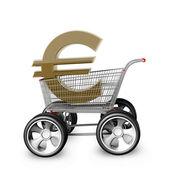Koncept euro prodej. — Stock fotografie