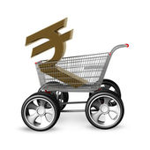 Concept Indian rupee SALE. — Stock Photo