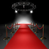 Stage with Red carpet — Stock Photo