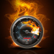 Tachometer on fire — Stock Photo