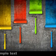 Paint roller draw a palette. - Stock Photo