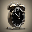 Stock Photo: Alarm Golden clock