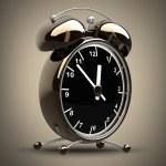 Alarm Golden clock — Stock Photo