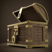Ročník dřevěná truhla — Stock fotografie