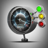 External tachometer. — Stock Photo