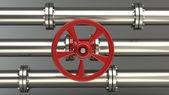Valve on pipeline — Stock Photo