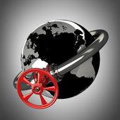 Pipeline Stopcock — Stock Photo