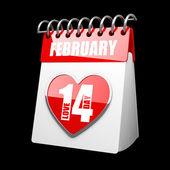 Calendar february 14 — Stock Photo
