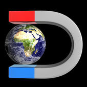 Magnet and Earth — Stock Photo