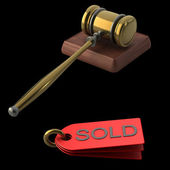 Auction gavel — Stock Photo