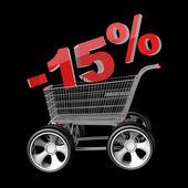 Concept SALE discount 15 percent — Stock Photo