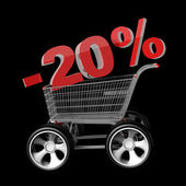Concept SALE discount 20 percent — 图库照片