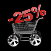 Concept SALE discount 25 percent — Stock Photo