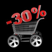 Concept SALE discount 30 percent — Stock Photo