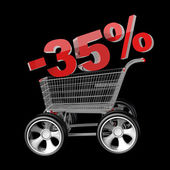 Concept SALE discount 35 percent — Stock Photo