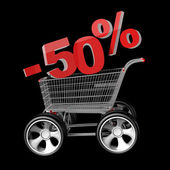 Concept SALE discount 50 percent — Foto de Stock