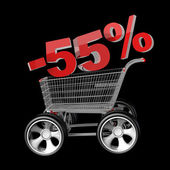 Concept SALE discount 55 percent — Stock Photo