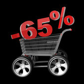 Concept SALE discount 65 percent — Stock Photo