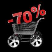 Concept SALE discount 70 percent — Stock Photo