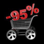 Concept SALE discount 95 percent — Stock Photo
