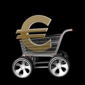 Concept EURO SALE — Stock Photo