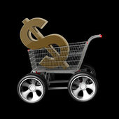 Concept US dollar SALE — Stock Photo
