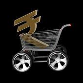 Venta de rupia india concepto — Foto de Stock