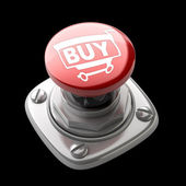 Red BUY button High resolution — Stock Photo